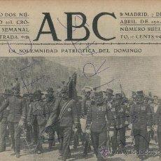 Militaria: ABC AÑO 1904 SUPERVIVIENTES DEL BATALLON DE PUERTO RICO VENTRILOCUO MOTOGIRL CAZA DE OSOS. Lote 18908046