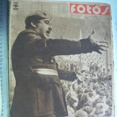 Militaria: FOTOS, SEMANARIO NACIONAL-SINDICALISTA: FRANCO ANTE LAS JUVENTUDES DE ESPAÑA. NOV.1939.. Lote 26480384