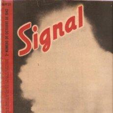 Militaria: REVISTA SIGNAL EDICION ESPAÑOLA 2º NUMERO OCTUBRE 1942. Lote 20556835