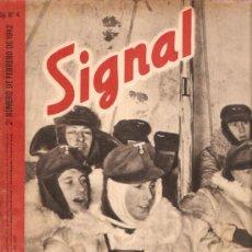 Militaria: REVISTA SIGNAL EDICION ESPAÑOLA 2º NUMERO FEBRERO 1942. Lote 20556886