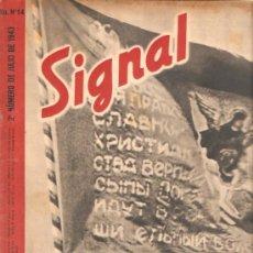 Militaria: REVISTA SIGNAL EDICION ESPAÑOLA 2º NUMERO JULIO 1943. Lote 20557155