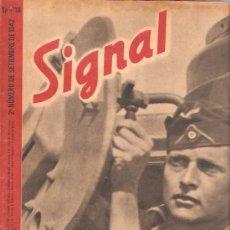 Militaria: REVISTA SIGNAL EDICION ESPAÑOLA 2º NUMERO SEPTIEMBRE 1942. Lote 20557223