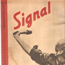 Militaria: REVISTA SIGNAL EDICION ESPAÑOLA 2º NUMERO OCTUBRE 1941. Lote 20557310