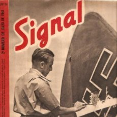 Militaria: REVISTA SIGNAL EDICION ESPAÑOLA 2º NUMERO JULIO 1941. Lote 20557556