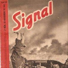 Militaria: REVISTA SIGNAL EDICION ESPAÑOLA 2º NUMERO NOVIEMBRE 1941. Lote 20557594