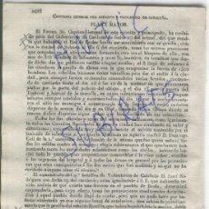 Militaria: DIARIO.BARCELONA 28-10-1835 PRIMERA GUERRA CARLISTA ATAQUE A SOLSONA CARDONA ROS DE EROLES BREDA. Lote 21684740