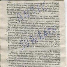 Militaria: DIARIO.BARCELONA.CARLISMO.10-11-1835.GUERRA.ITURRALDE.PUEBLA DE ARGANZON.ARGA.OÑATE.ZUYA.ARMIÑON.. Lote 21687630