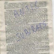Militaria: DIARIO.BARCELONA.11-11-1835.CARLISMO.GUERRA.BADALONA.DESAMORTIZACION DEL CONVENTO DE MONTEALEGRE.. Lote 21687824