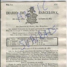 Militaria: DIARIO.BARCELONA.13-11-1835.CARLISMO.PRIMERA GUERRA CARLISTA.CARDONA.SOLSONA.OLIANA.SIO.TARREGA.. Lote 21688171