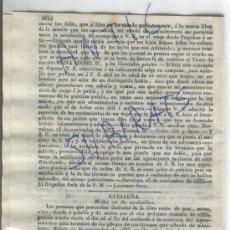 Militaria: DIARIO DE BARCELONA AÑO 1835 CARLISMO PRIMERA GUERRA CARLISTA.MOLLET MONTMELO SANT ANDREU DE PALOMAR. Lote 21689193