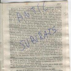 Militaria: DIARIO.BARCELONA.30-11-1835.CARLISMO.PRIMERA GUERRA.POBLA DE SEGUR.GAVILLAS CATALANAS.ASPIROZ.. Lote 21689695