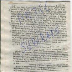 Militaria: DIARIO.BARCELONA.CARLISMO.PRIMERA GUERRA CARLISTA.3-12-1835.VILAFRANCA DEL PENEDES.COPONS.VENDRELL.. Lote 21692041
