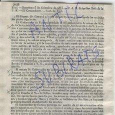 Militaria: DIARIO.BARCELONA.7-12-1835.CARLISMO.GUERRA.ARROS.VIDRA.NEN DE SALLENT.PALAFRUGELL.SANT HILARI.RABADA. Lote 21692519