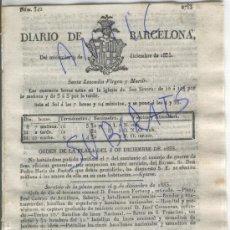 Militaria: DIARIO BARCELONA CARLISMO PRIMERA GUERRA CARLISTA DECRETOS ALVARO GOMEZ BECERRA RECLUTACION AÑO 1835. Lote 21692787