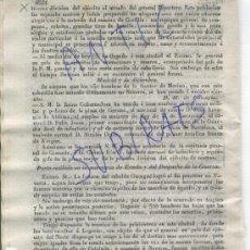 Militaria: DIARIO.BARCELONA.19-12-1835.CARLISMO.PRIMERA GUERRA CARLISTA.GENERAL ESPARTERO CON INGLESES.VITORIA.. Lote 21700500