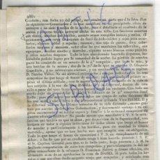 Militaria: DIARIO.BARCELONA AÑO 1835 CARLISMO PRIMERA GUERRA CARLISTA TARRAGONA REUS PRIORAT GRANADELLA COPON. Lote 21700635
