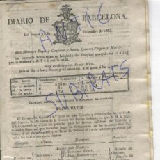 Militaria: DIARIO AÑO 1835 CARLISMO PRIMERA GUERRA CARLISTA ACCION DELS ESTANYS CONDECORACIONES. Lote 21701131