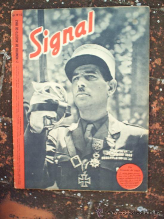 SIGNAL N.16, SEGUNDO NUMERO DE AGOSTO DE 1943 , EN CASTELLANO (Militar - Revistas y Periódicos Militares)