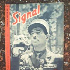 Militaria: SIGNAL N.16, SEGUNDO NUMERO DE AGOSTO DE 1943 , EN CASTELLANO. Lote 22709383