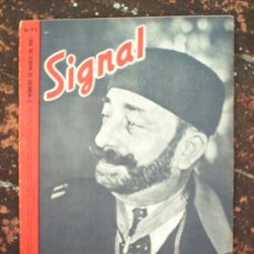 Militaria: SIGNAL N.6 SEGUNDO NUMERO DE MARZO DE 1943 , EN CASTELLANO. Lote 22709465