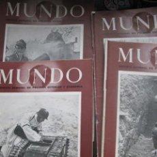 Militaria: REVISTAS MUNDO 1940 -1946 FOTOS Y MAPAS II GUERRA MUNDIAL. Lote 40037075