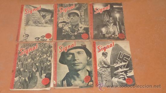 LOTE DE 5 REVISTAS SIGNAL. SEGUNDA GUERRA MUNDIAL. DE 1941 A 1943. (Militar - Revistas y Periódicos Militares)