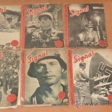 Militaria: LOTE DE 5 REVISTAS SIGNAL. SEGUNDA GUERRA MUNDIAL. DE 1941 A 1943. . Lote 112395200
