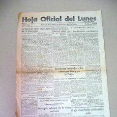 Militaria: PERIODICO, HOJA OFICIAL DEL LUNES, 1939, VALENCIA, Nº 3, AÑO 1. Lote 25388567