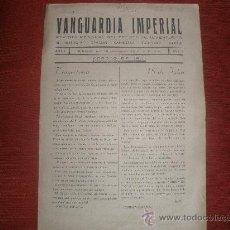 Militaria: VANGUARDIA IMPERIAL AÑO 1º Nº 1 CON ARTICULO DE LA DIVISION AZUL-REVISTA DEL FRENTE DE JUVENTUDES. Lote 27187560