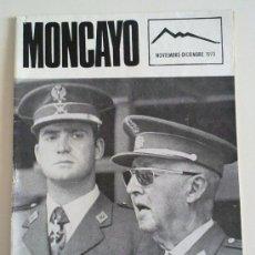 Militaria: REVISTA MONCAYO. R.E.S. 5º REGION MILITAR. FRANCO Y EL REY. NÚMERO 65. NOV.- DIC. 1975. JOYA!!. Lote 27562777