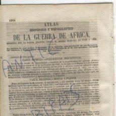 Militaria: LA GUERRA DE AFRICA.1861.BOLETIN DE LA GUARDIA CIVIL.PRIM.O'DONNELL.OLIVA DE JEREZ.BADAJOZ.ELIZONDO.. Lote 26335399
