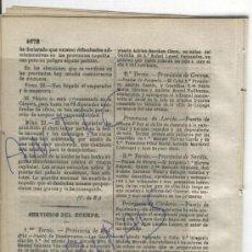 Militaria: BOLETIN GUARDIA CIVIL 1861 TORRIJOS CARMONA VILLENA TAUSTE DAROCA LA ALMUNIA UGIJAR PORCUNA MIERES. Lote 26335527