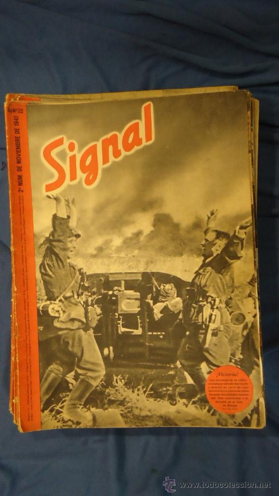 ALEMANIA. III REICH. 2ª GUERRA MUNDIAL. REVISTA SIGNAL. TEXTO EN CASTELLANO. Nº 22. NOVIEMBRE 1941. (Militar - Revistas y Periódicos Militares)