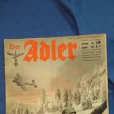 Militaria: ALEMANIA III REICH. REVISTA DER ADLER, PUBLICACIÓN DE LA LUFTWAFFE. Nº 26 DICIEMBRE 1940.. Lote 27065307