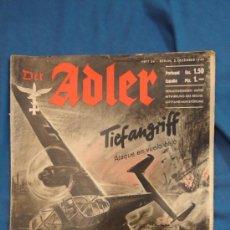 Militaria: ALEMANIA III REICH. REVISTA DER ADLER, PUBLICACIÓN DE LA LUFTWAFFE. Nº 24 DICIEMBRE 1940.. Lote 27065410