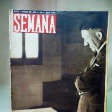 Militaria: REVISTA, SEMANA, Nº 51, AÑO II, 1941, MEDITACION DE HITLER SOBRE UN MAPA MILITAR. Lote 27862860