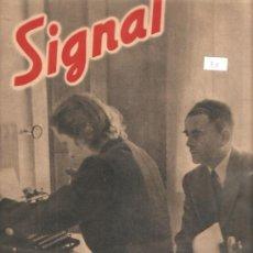Militaria: REVISTA SIGNAL EDCION ESPAÑOLA 1 NUMERO DE AGOSTO 1943. Lote 28531981