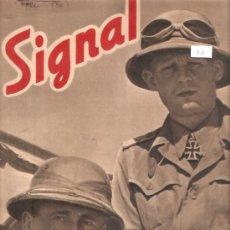 Militaria: REVISTA SIGNAL EDCION ESPAÑOLA 1 NUMERO MAYO 1941. Lote 28532096