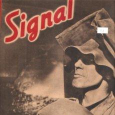 Militaria: REVISTA SIGNAL EDCION ESPAÑOLA 1 NUMERO ABRIL 1942. Lote 28532158
