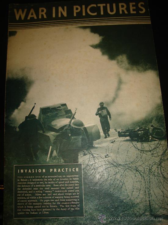WAR IN PICTURES, REVISTA INGLESA MILITAR, SEGUNDA GUERRA MUNDIAL (Militar - Revistas y Periódicos Militares)