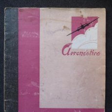 Militaria: (JX-03)REVISTA , AERONAUTICA , ABRIL 1937, GUERRA CIVIL, 32 PAG. . Lote 29817999