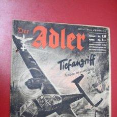 Militaria: REVISTA WWII - DER ADLER, EN ALEMAN Y ESPAÑOL, Nº 24, 3 DICIEMBRE 1940. Lote 296828073