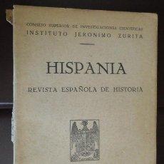 Militaria: REVISTA ESPAÑOLA DE HISTORIA, HISPANIA, Nº V, MADRID 1941. 135 PÁGINAS. Lote 31170160