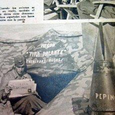 Militaria: DIVISION AZUL, PAGINA, RECORTE, REVISTA DER ADLER, LA ESCUADRILLA EN EL FRENTE ORIENTAL, 1940S. Lote 31315459
