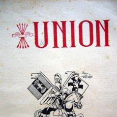 Militaria: RARA REVISTA DE FALANGE, UNION, Nº 23 - 24, REVISTA NACIONAL DE LA VIEJA GUARDIA, 1950, CHAUSA. Lote 31313068