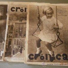 Militaria: LOTE DE 3 REVISTAS CRÓNICA, AÑO 1934. Lote 32692044