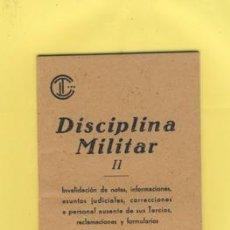 Militaria: CONSULTORES TECNICOS LEGISLATIVOS-ENERO 1942-DISCIPLINA MILITAR. Lote 34136666