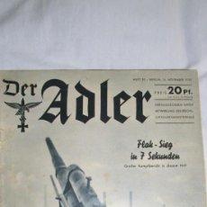 Militaria: DER ADLER Nº 20 AÑO 1939 ORIGINAL,REBAJADA. Lote 34750290