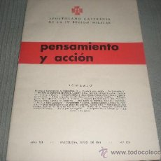 Militaria: REVISTA PENSAMIENTO Y ACCIÓN N° 129. APOSTOLADO CASTRENSE DE LA IV REGÍÓN MILITAR .Nº 129. Lote 34769919