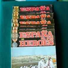 Militaria: ESPAÑA EN SUS HEROES - HISTORIA BELICA DEL SIGLO XX - 16 FASCICULOS - Nº 1 AL 14 Y 17-18 - 1969 . Lote 34895560